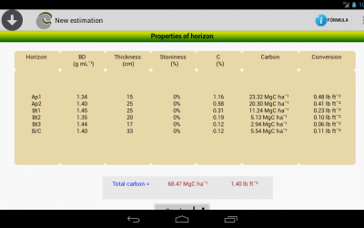 The App SOC + a tool to estimate or/and calculate soil organic carbon